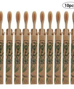 Brosse à dents en Bambou lot de 10