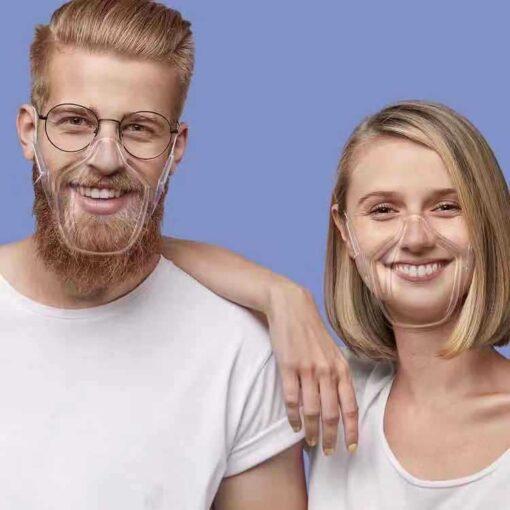 Masque facial transparent