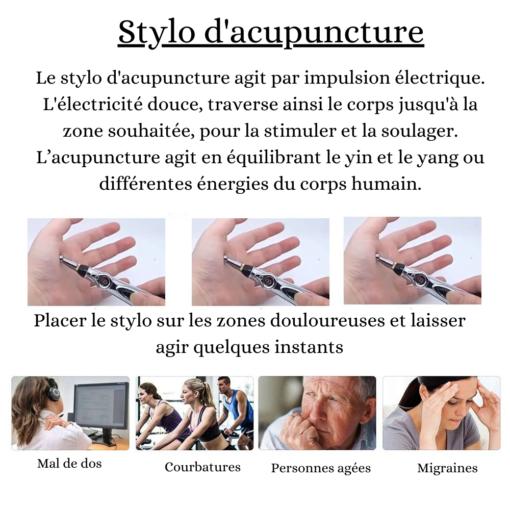 Stylo d'acupuncture électrique sans aiguille